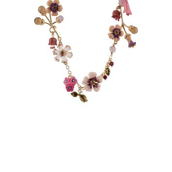 Les Néréides QUEEN OF THE MEADOW MULTI CHARM LONG NECKLACE