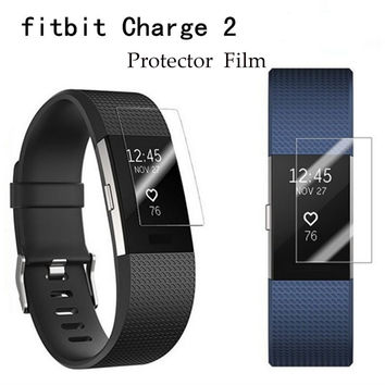 Premium Screen Protector Film For Fitbit Charge 2 Full Smartwatch Protective Films for Fitbit Charge 2 , Not Tempered Glass