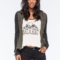 Others Follow Breakup Womens Jacket Olive  In Sizes