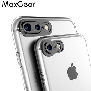 For iPhone 6S 7 Plus Case 3D Camera Protection High Clear Transparent Silicone Soft TPU Cover For iPhone 7 6 Plus Gel Shell