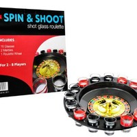 Shot Glass Roulette - Casino Style Drinking Game - By Spin & Shoot