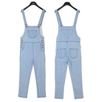Basic Vintage Denim Overalls