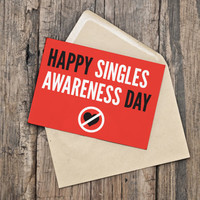 Printable Valentine's Day Card - Singles Awareness - Anti Valentine