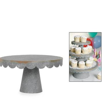 Small Scalloped Cupcake Stand - Barn Roof