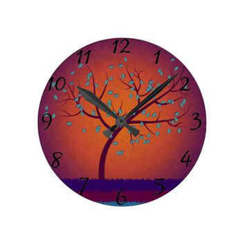 Tree of Life Round Clock