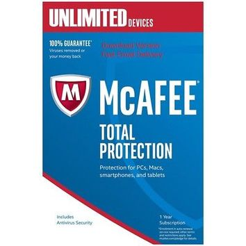 McAfee Total Protection, 1 User - Unlimited Devices, 1 Year - DOWNLOAD VERSION | eBay