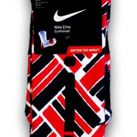 Retro 4 Fire Red Custom Elite Socks