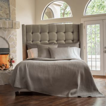 Retro Pewter Coverlets and Pillows by Lili Alessandra
