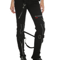 Tripp Black Zipper Bondage Pants