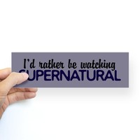 Supernatural Bumper Sticker on CafePress.com