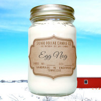 Egg Nog 16oz Scented Soy Candle, Christmas Gifts, Mason Jar Candles, Secret Santa, Christmas Fragrance, Christmas Candles, Christmas Decor