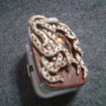 Polymer clay pill box, octopus pocket pill box