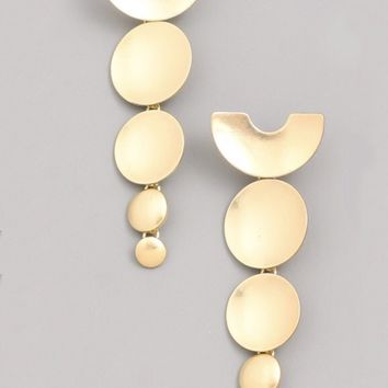 Circle Disc Dangle Earring
