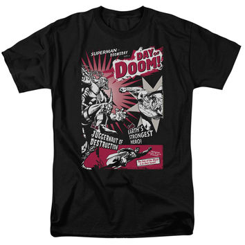 Superman Day of Doom Black T-Shirt