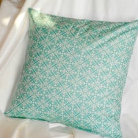 Blue Pillow Modern decorative throw pillow 16 x 16 inch