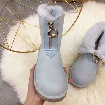 UGG 2018 winter new trend female models in the tube warm and velvet snow boots