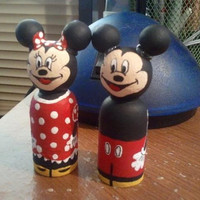 "Mr & Mrs Mouse Inspired Characters, wooden peg people ""CHOICE OF ONE"""