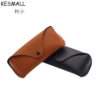 Fashion Sunglasses Box Women Men Eyeglasses Case Black Brown Faux Leather Sun Glasses Cases Female Oculos De Sol Holders YJ768