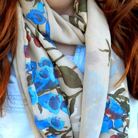 Woman Scarf Pastel, Infinity, Circle Scarf, Loop Scarf, Women's Fashion Accessories, Chiffon scarves, Summer Scarves