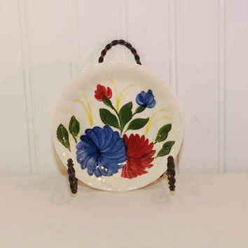 Vintage Southern Potteries Blue Ridge Chrysanthemum Berry Bowl (c. 1940's-1950's) Handpainted, Colonial Edge, Dessert Bowl, Collectible