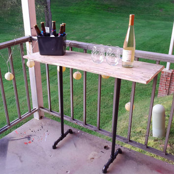 Repurposed industrial steel pipe table, wood pipe table, reclaimed wood, distressed wood table, steampunk table, woodworking, mother's day