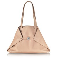 Akris Ai Small Pale Rose Leather Tote Bag