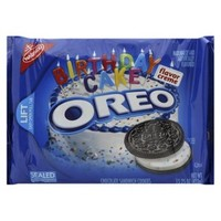 Nabisco Oreo Birthday Cake Chocolate Sandwich Cookies 15.25 oz