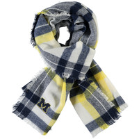 ZooZatz Michigan Wolverines Women's Tartan Blanket Scarf