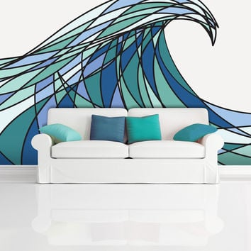 Wall Mural Decal Sticker Decani Ocean Wave Color #MCrespo130
