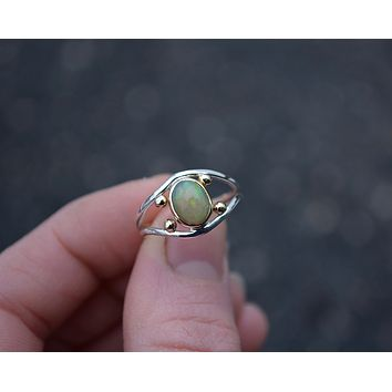 Four Points Opal Ring // Size 6.5