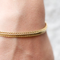 Eighties Golden Delicate Bracelet - Damart