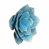 Lotus Medium Wall Decor Blue