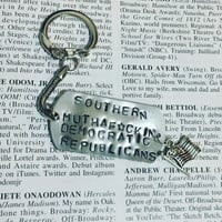 HAMILTON the Musical WASHINGTON on Your SIDE stamped charm Keychain