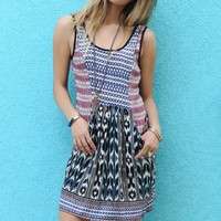 Indian Pier Casual Ikat Print Dress