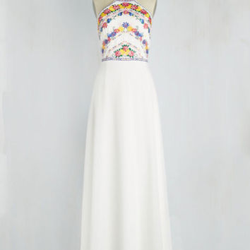 Radiate with Destiny Dress in White | Mod Retro Vintage Dresses | ModCloth.com