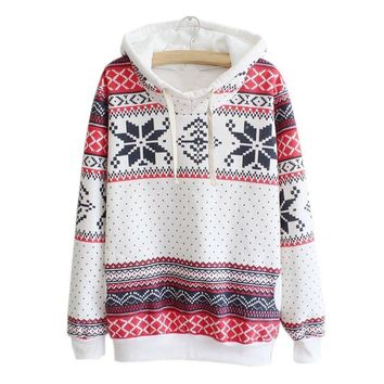 Ethnic Print Autumn Long Sleeve Women Hoodies Sweatshirts Hooded Pullover Female Jumper Women's Tracksuits Sportswear Plus Size