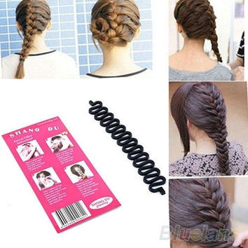 Hair Braiding Tool Roller With Magic hair Twist Styling barber Maker tool = 5658519041