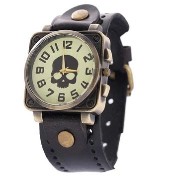 Skull Face Casual Dress Vintage Watch