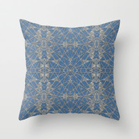 Frozen Blue Throw Pillow by Project M