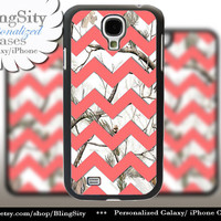 White Camo Chevron Galaxy S4 S5 case Coral Peach Real Tree Camo Deer Personalized RealTree Samsung Galaxy S3 Case Note 2 3 Cover