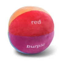 Gund Color Fun Educational Stuffed Rattle Ball