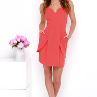 Love for Life Coral Red Dress