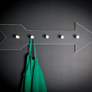 Coat Rack hanger Arrow - birch wood