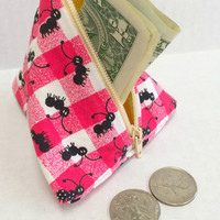 Coin Purse - Ants,Knitting Accessories,Ear Bud Pouch,Stocking Stuffer,Zipper Pouch,Change Purse,Head Phone Pouch,Coin Purse, Ant Coin Purse