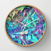 Holographic II Wall Clock by Nestor2
