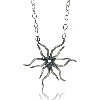 ALL NEW Arabesque Burst Silver Necklace