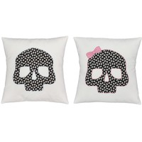 Silly Skulls Throw Pillows