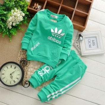 New spring mode enfant Set Baby Boys Girls Clothes Childrens suits Zipper Jackets + Pants 2pcs Sports Kids Outfits Outwear