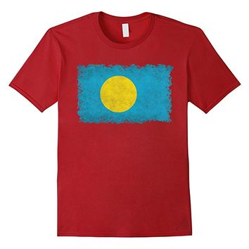 Palau Flag T-Shirt in Vintage Retro Style