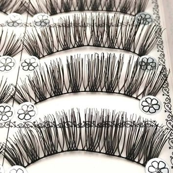10 Pairs False Eyelashes Soft Black Long Eye Lashes Natural Fake Lashes Eyelash Extension Makeup Faux Cils Fake Eyelashes L10